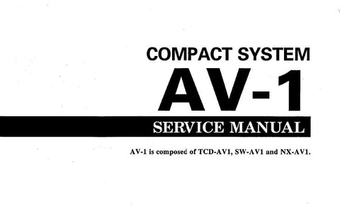 YAMAHA AV-1 COMPACT SYSTEM SERVICE MANUAL INC SCHEM DIAGS AND PARTS LIST 35 PAGES ENG