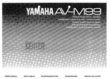 YAMAHA AV-M99 STEREO AMPLIFIER OWNER'S MANUAL INC CONN DIAG AND TRSHOOT GUIDE 18 PAGES ENG