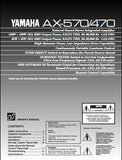 YAMAHA AX-470 AX-570 STEREO INTEGRATED AMPLIFIER OWNER'S MANUAL INC CONN DIAG AND TRSHOOT GUIDE 14 PAGES ENG