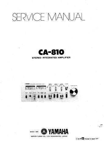 YAMAHA CA-810 STEREO INTEGRATED AMPLIFIER SERVICE MANUAL