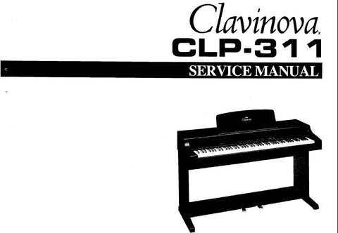 YAMAHA CLP-311 CLAVINOVA SERVICE MANUAL INC BLK DIAG PCBS AND PARTS LIST 27 PAGES ENG