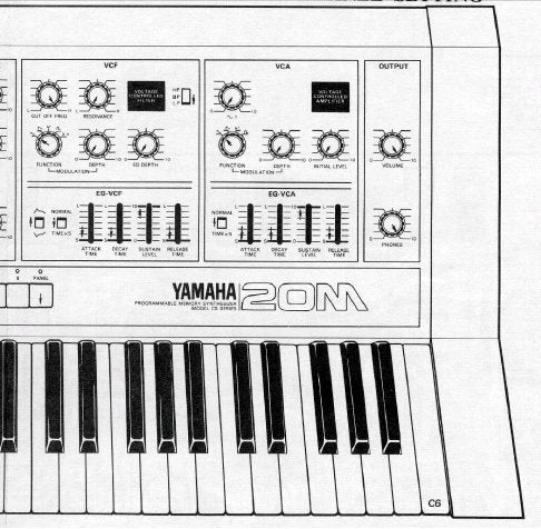 YAMAHA CS20M PROGRAMMABLE MEMORY SYNTHESIZER SERVICE MANUAL INC CIRC DIAGS PCBS OVERALL CIRC DIAG AND PARTS LIST 98 PAGES ENG