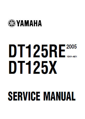 YAMAHA DT125RE DT125X MOTORCYCLE SERVICE MANUAL INC CHECKS AND ADJUSTMENTS CHASSIS ENGINE COOLING SYSTEM CARBUTETOR ELECTRICAL SYSTEM TRSHOOT GUIDE AND WIRING DIAG 320 PAGES ENG