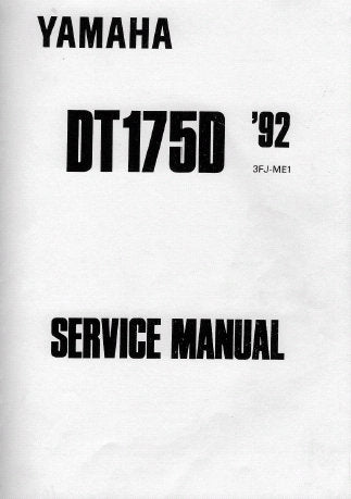 YAMAHA DT175D MOTORCYCLE SERVICE MANUAL INC PERIODIC INSPECTION AND ADJUSTMENT ENGINE OVERHAUL CARBURETA CHASSIS ELECTRICAL AND TRSHOOT GUIDE 236 PAGES ENG