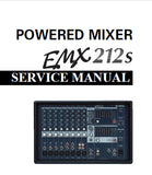 YAMAHA EMX212s POWERED MIXER SERVICE MANUAL INC WIRING DIAG PCBS BLK AND LEVEL DIAG CIRC DIAGS AND PARTS LIST 131 PAGES ENG JAP