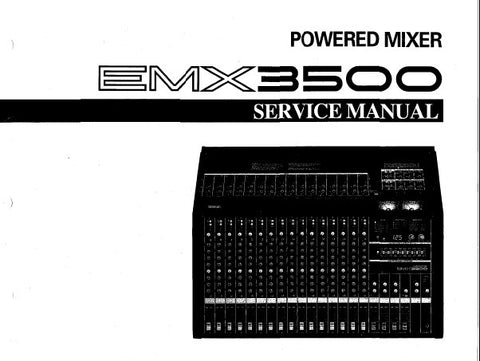 YAMAHA EMX3500 POWERED MIXER SERVICE MANUAL INC CIRC DIAGS WIRING DIAG PCBS AND PARTS LIST 49 PAGES ENG