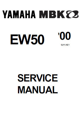 YAMAHA EW50 SLIDER SCOOTER SERVICE MANUAL INC CHECKS AND ADJUSTMENTS ENGINE OVERHAUL CARBURETOR CHASSIS ELECTRICAL COMPONENTS TRSHOOTING AND WIRING DIAG 228 PAGES ENG