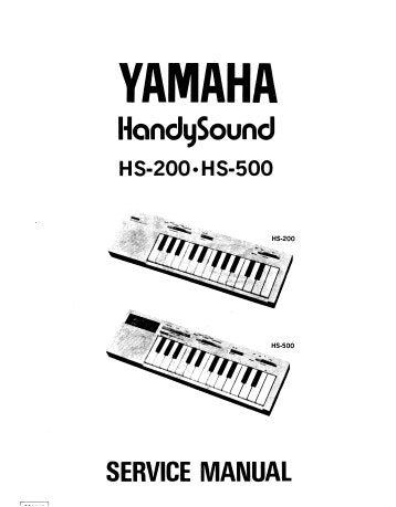 YAMAHA HS200 HS500 HANDYSOUND KEYBOARD SERVICE MANUAL INC PARTS LIST 26 PAGES ENG 日本人 PART 1