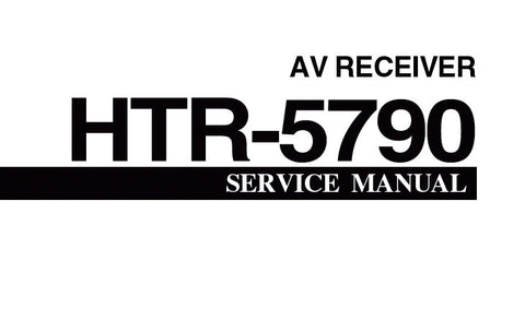 YAMAHA HTR-5790 AV RECEIVER SERVICE MANUAL INC BLK DIAG PCBS SCHEM DIAGS AND PARTS LIST 93 PAGES ENG