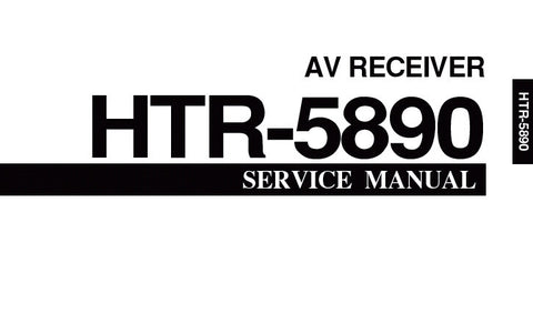 YAMAHA HTR-5890 AV RECEIVER SERVICE MANUAL INC BLK DIAG PCBS SCHEM DIAGS AND PARTS LIST 91 PAGES ENG