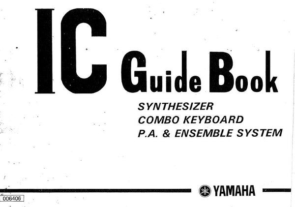 YAMAHA IC DATA GUIDE BOOK SYNTHESIZER COMBO KEYBOARD PA
