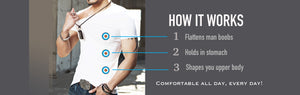 Compression T-shirts for man boob and gynecomastia - XBODY UK