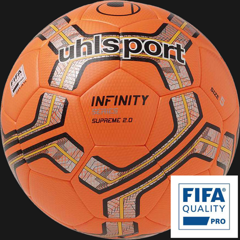Uhlsport Infinity Supreme 2.0 Match Ball Silver & Fluro Red
