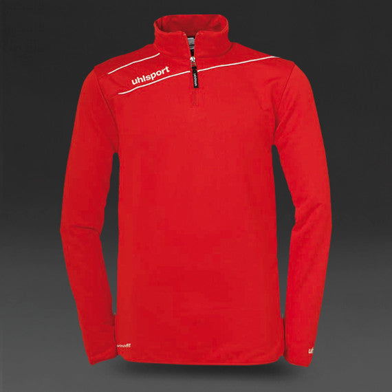 Uhlsport Stream 3 1/4 Zip Top - Red/White