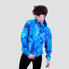 CIA TIE DYE SPOTTED BLUE HOODIE - HIP AND BONE