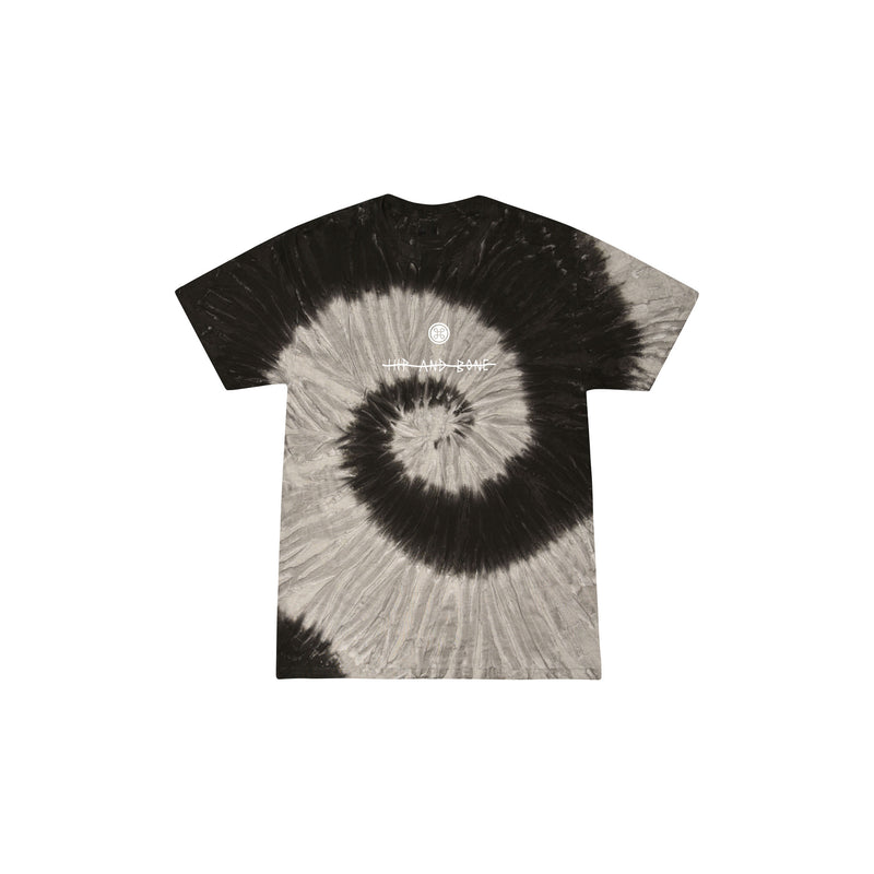 SPIDER TIE DYE TEE BLACK RAINBOW - HIP AND BONE
