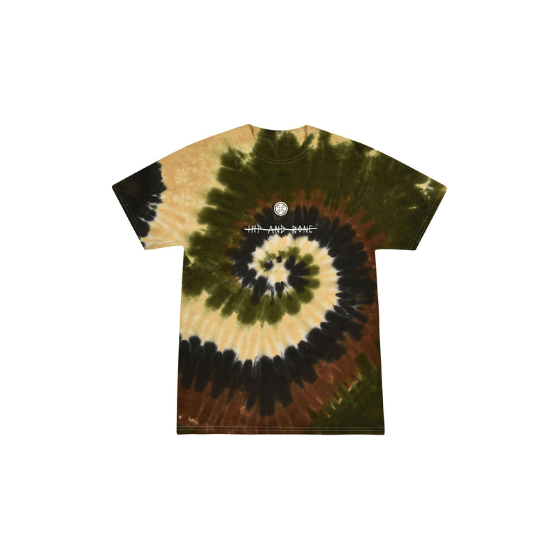 SPIDER TIE DYE TEE CAMO - HIP AND BONE