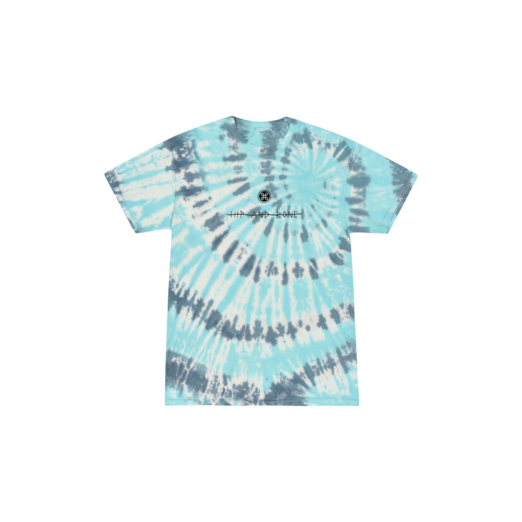 SPIDER TIE DYE TEE REEF BLUE - HIP AND BONE