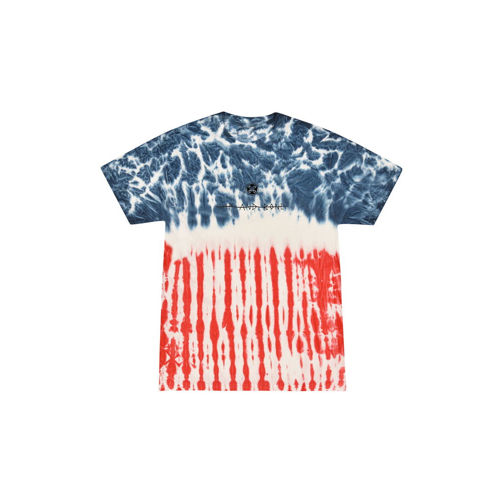SPIDER TIE DYE TEE MULTI FLAG - HIP AND BONE