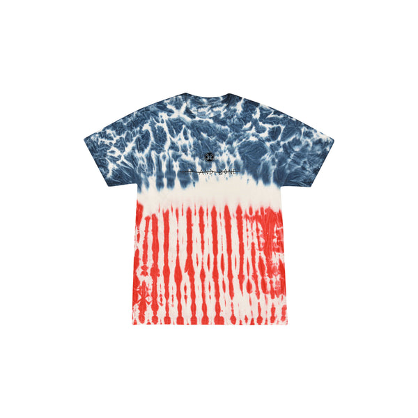 SPIDER TIE DYE TEE MULTI FLAG | Tops | HIP AND BONE