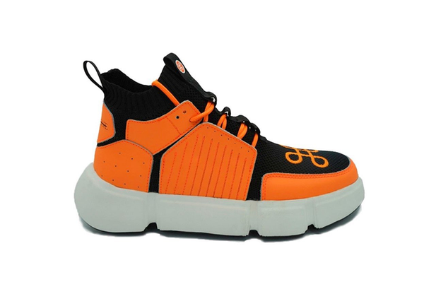 BLOCK SHOE BLACK NEON ORANGE NIGHT EDITION