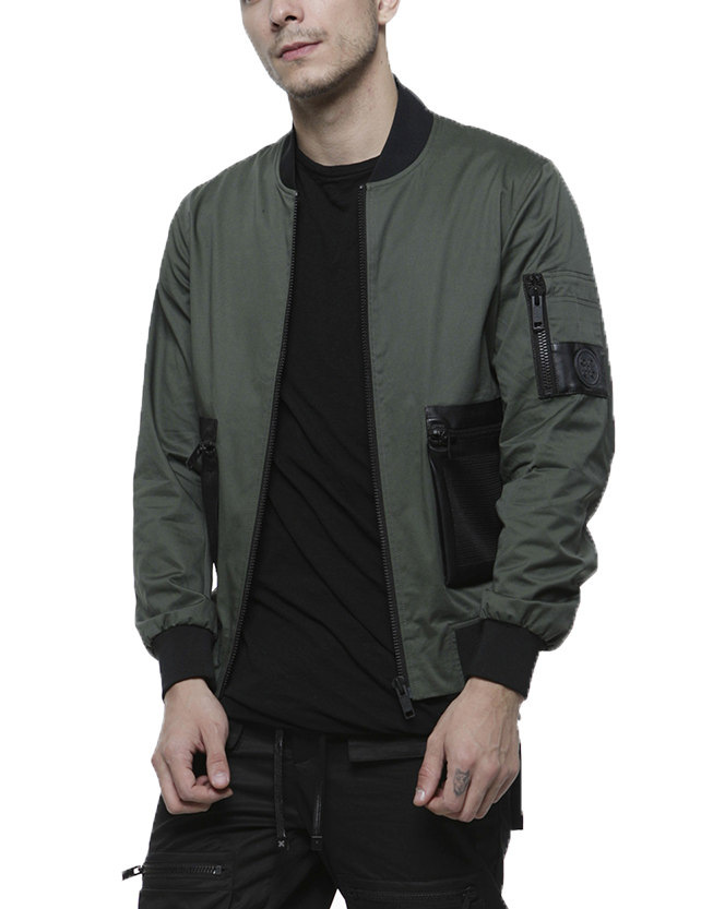 SAFARI BOMBER JACKET / OLIVE GREEN
