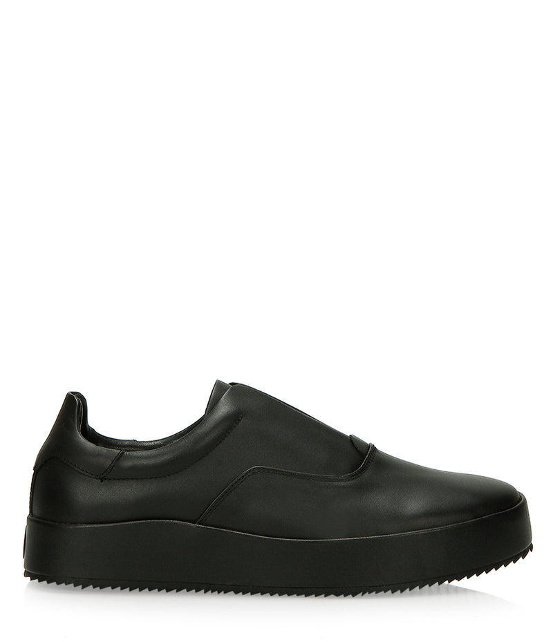 LEATHER SKATER SLIP-ON - BLACK | Shoes | HIP AND BONE