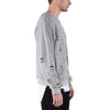 DISTRESSED RIPPED SWEATSHIRT / GREY - HIP AND BONE