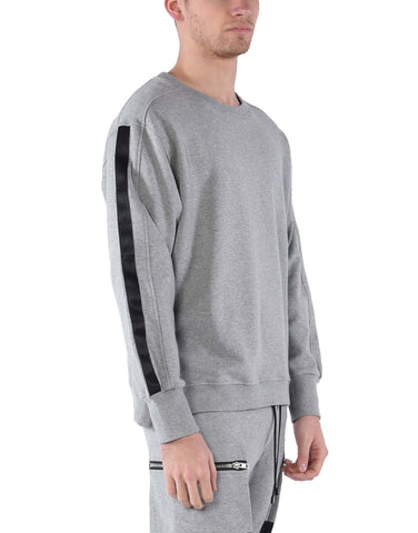 DISTRESSED RIPPED SWEATSHIRT / GREY