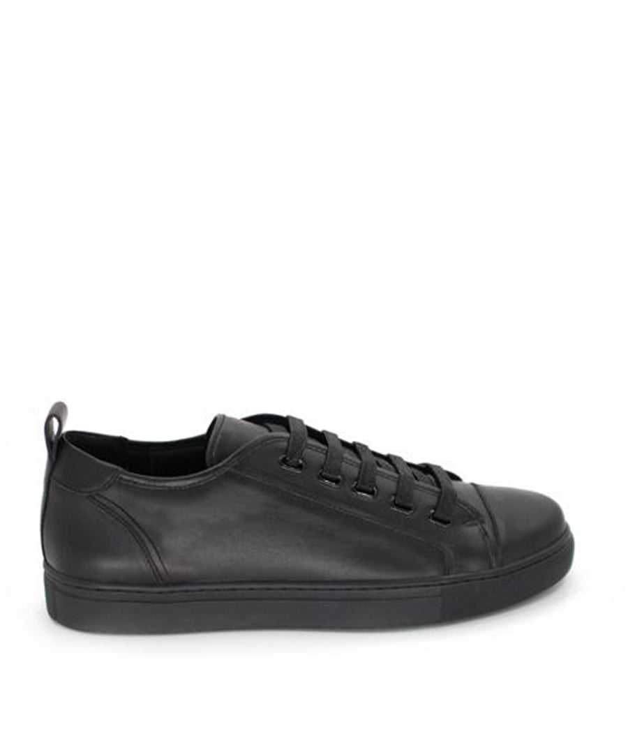 LEATHER FLY SNEAKER / BLACK LEATHER