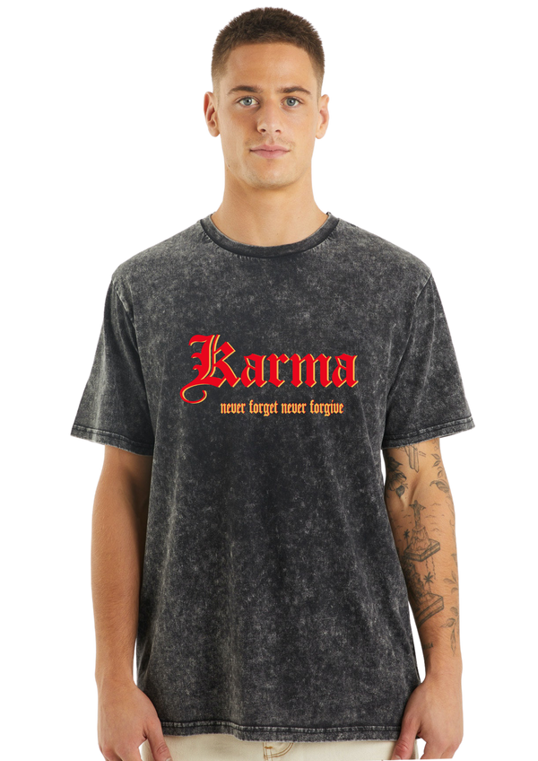KARMA ACID WASH SHORT/LONG SLEEVE TEE