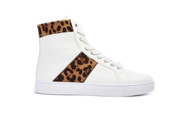 SPEECHLESS WHITE LEOPARD HIGH TOP