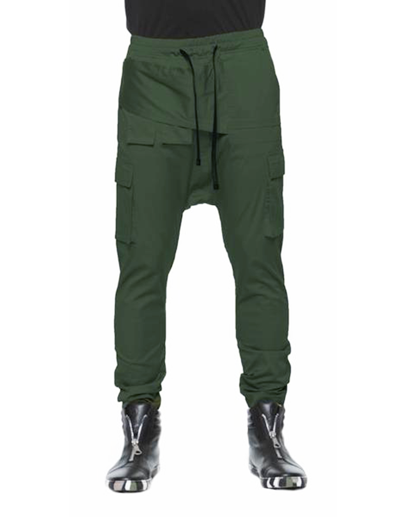PARACHUTE CANVAS TROUSERS / OLIVE GREEN - HIP AND BONE