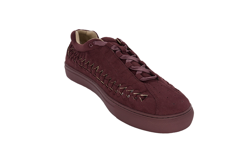 SUEDE WIRE RUNNER - BURGANDY SUEDE