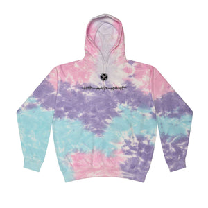 SPOT TIE DYE HOODIE COTTON CANDY - HIP AND BONE
