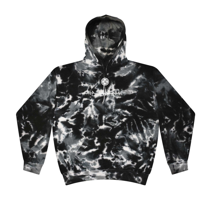 SPOT TIE DYE HOODIE MULTI BLACK - HIP AND BONE
