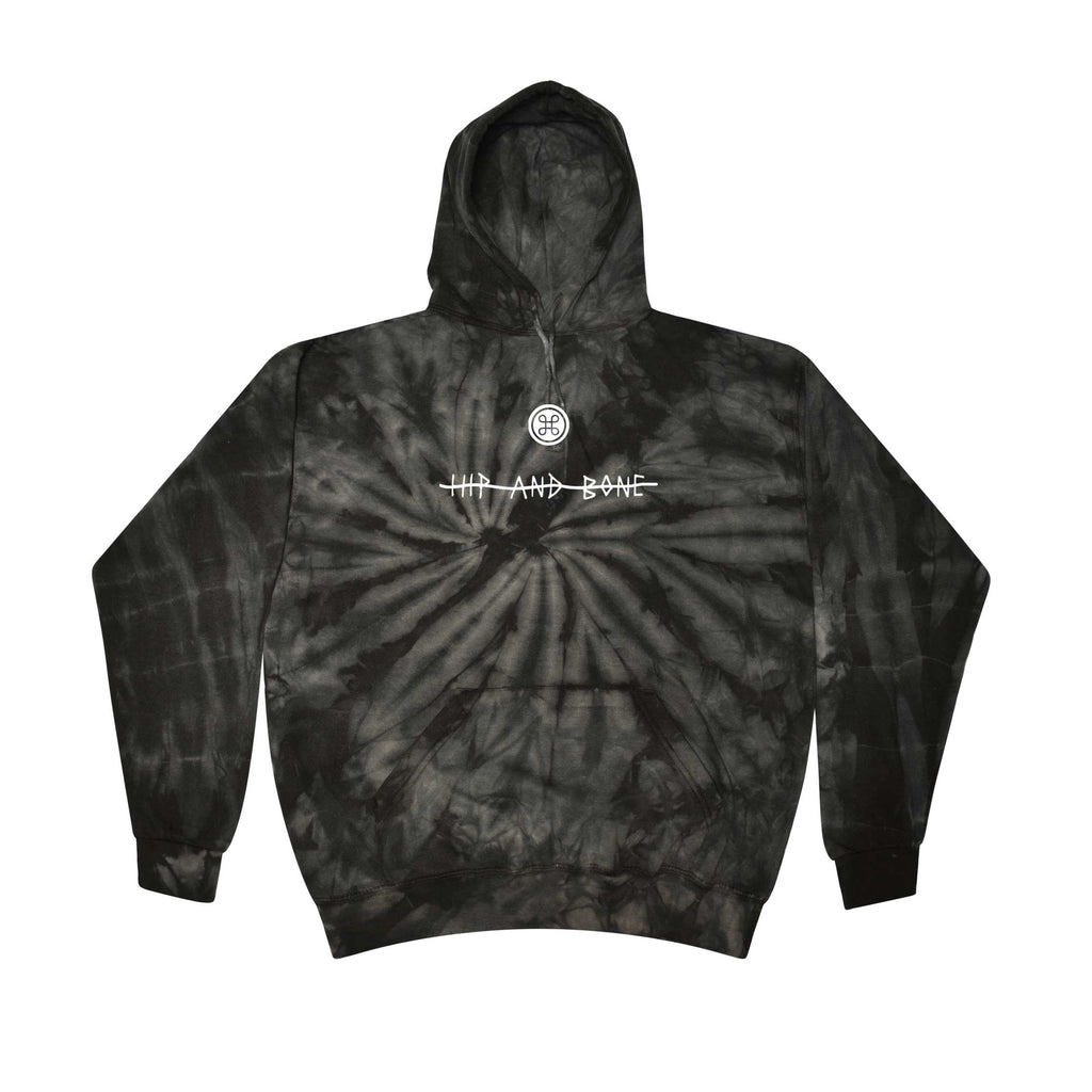SPIDER TIE DYE HOODIE BLACK - HIP AND BONE