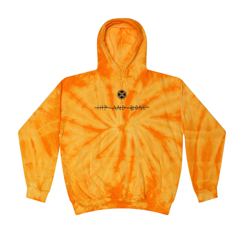 SPIDER TIE DYE HOODIE ORANGE - HIP AND BONE