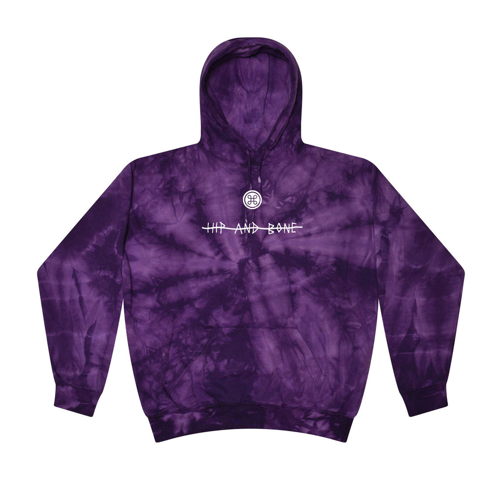 SPIDER TIE DYE HOODIE PURPLE - HIP AND BONE