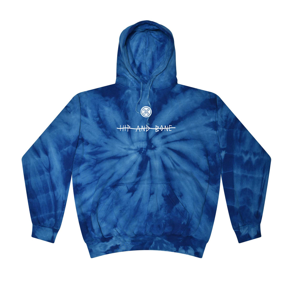 SPIDER TIE DYE HOODIE NAVY BLUE - HIP AND BONE
