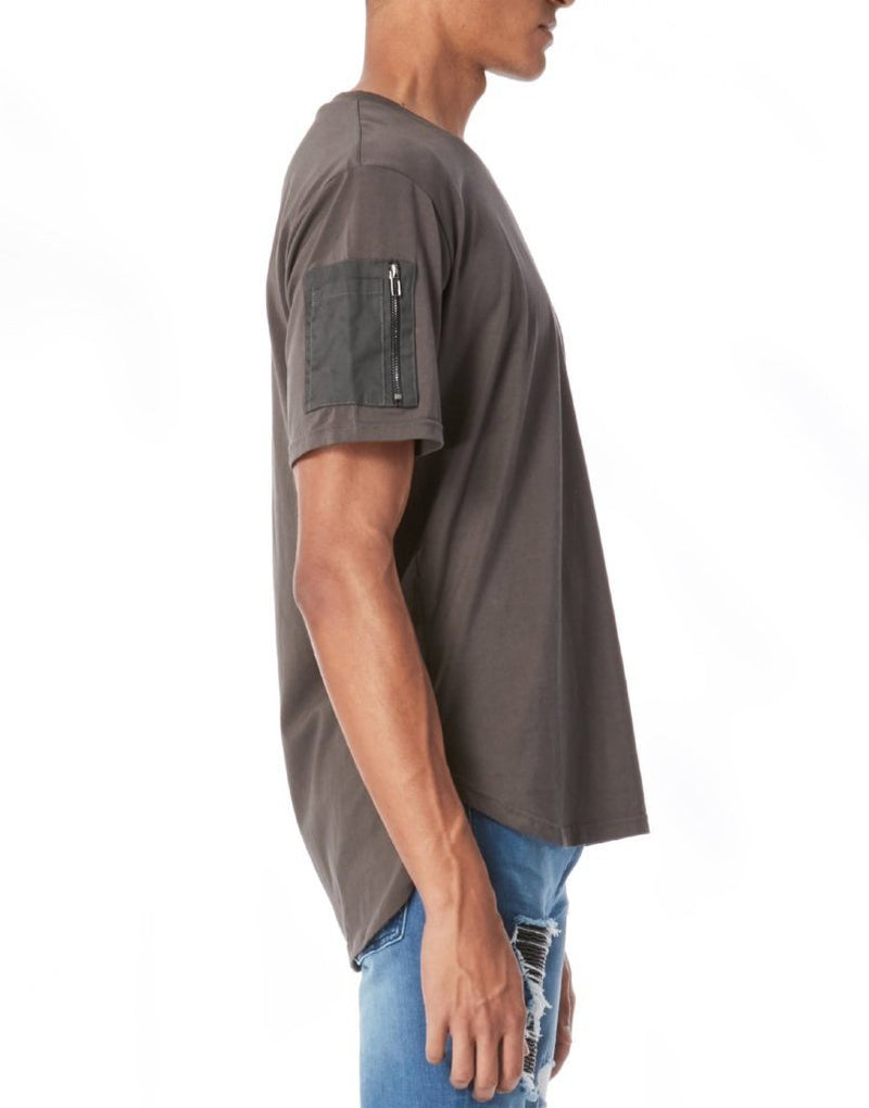 BOMBER TEE / CHARCOAL - HIP AND BONE