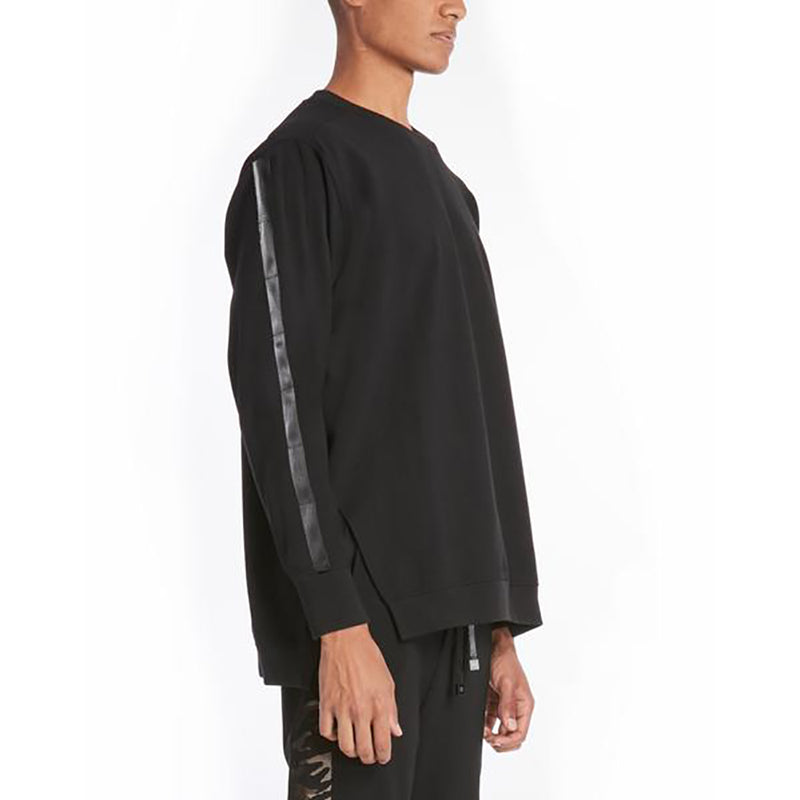 PARACHUTE NEOPRENE SWEATSHIRT / BLACK - HIP AND BONE
