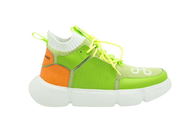 BLOCK SHOE LEMON LIME ORANGE
