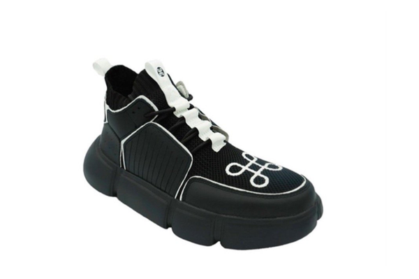 BLOCK SHOE BLACK WHITE PIPPING SPECIAL EDITION