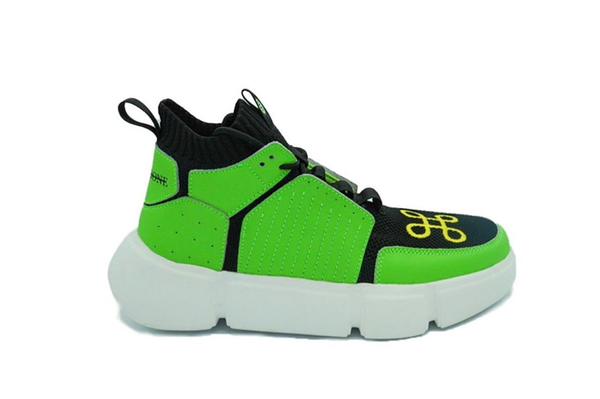 BLOCK SHOE BLACK SAFETY GREEN NIGHT EDITION