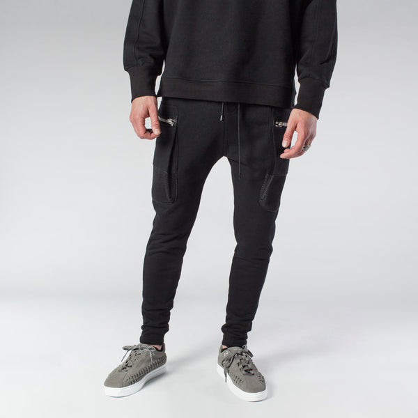 PARACHUTE CARGO JOGGER - BLACK | Bottoms | HIP AND BONE