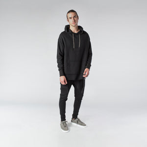 CHAIN HOODIE / BLACK - HIP AND BONE
