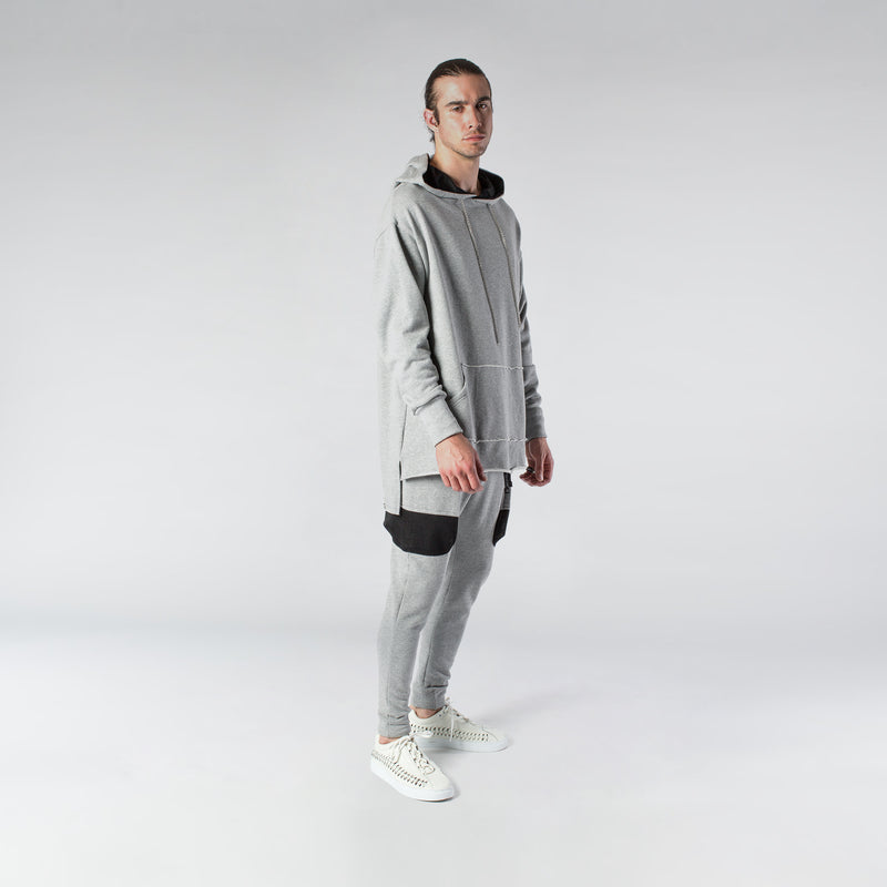 CHAIN HOODIE / GREY | Tops | HIP AND BONE