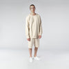 TERRY PASTEL CREW / CREAM - HIP AND BONE