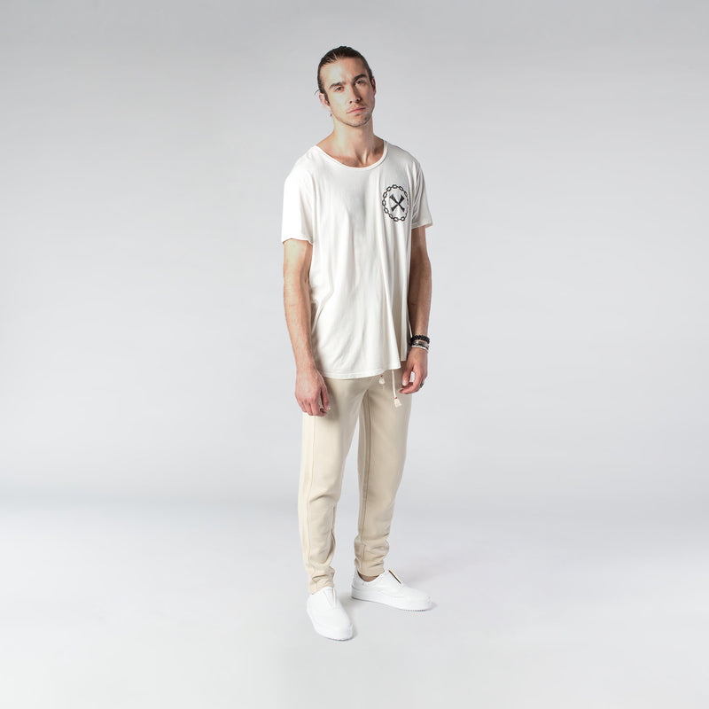 TERRY PASTEL JOGGERS / CREAM - HIP AND BONE